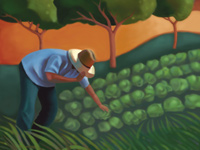 Farmer Painting by Michael Welch